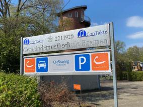 Cambio CarSharing in Kattenturm-Mitte - Parkplätze auf dem Gelände der Abraham Gemeinde