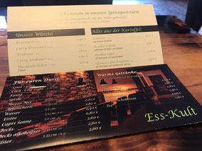 Ess-Kult Speisekarte (Esskult in Bremen-Arsten)
