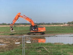 Baggerarbeiten für die Gartenstadt Werdersee