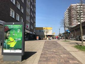 Ladenzeile Gorsemannstraße in Kattenturm-Mitte (Foto: 03-2018, Jens Schmidt)