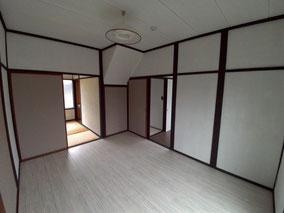 リフォーム中に入居者さんも決まり、襖や床の色は入居者さんに選んでもらいました。