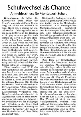 Erschienen in der Vilsbiburger Zeitung vom 25.2.2015