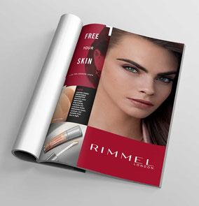 Magazine advertising across all ranges