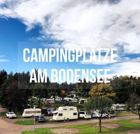 Rund um den Bodensee gibt es viele verschiedene Campingplätze. Unsere Favoriten findet Ihr hier.