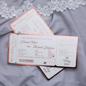 "Hot Foil-Karte ""Flugticket"" #HF0001"