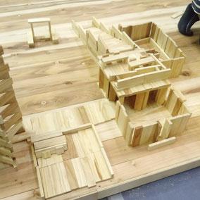 木造の家。