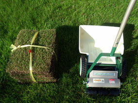 芝刈りと芝張り