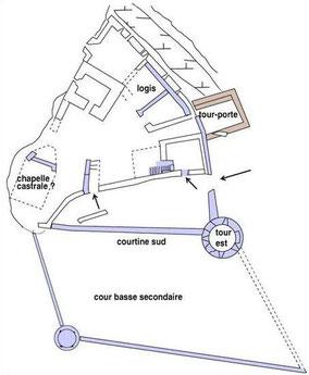 Evolution du château vers 1542