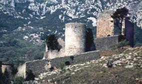 vue du château en janvier 1991