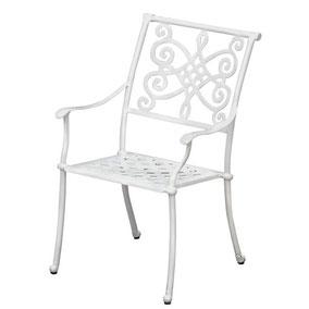 Gartenstuhl Metall Weiß
