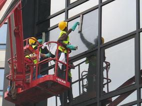 Nettoyage de vitres nacelle