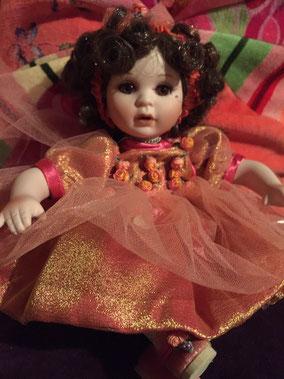 """Marie Osmond Doll 6"""" Porcelain Rosebud"""