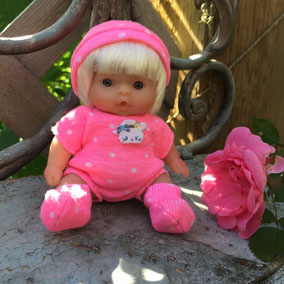 "Blond 6"" Berenguer baby"