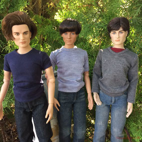 "Tonner 18"" male dolls, Vampire Eddie, Harry Potter, Peter Parker"