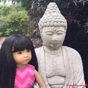 Daphne's Garden, Dianna Effner Little Darling, Buddha, Garden Buddha
