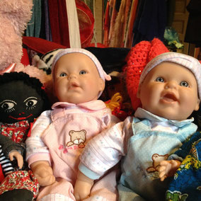Walmart happy baby dolls boy and girl twins
