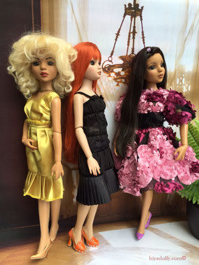 Ellowynes, Lizette, dolls dressed up, in the Ballroom