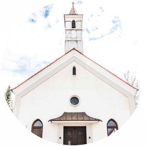 Alte Christuskirche von außen Illertissen Projekt Gastraum