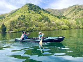 愛犬といっしょにSUP&カヤックを木崎湖で楽しもう