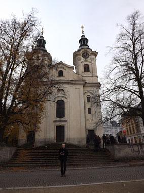 Kreuzkirche Liberec von außen...