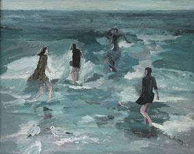 """""""Im Meer"""", 2020, Acryl, 40 x 50 cm"""