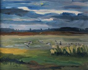 """""""Wiese Hiddensee"""", 2017, Acryl, 40 x 50 cm"""