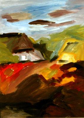 """Hiddensee, Nähe Vitte"", 2013, Acryl, 40 x 30 cm"