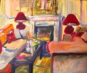 """Hotel Stolpe"", 2009, Acryl, 50 x 60 cm"