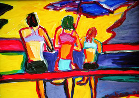 """Mädchen am Strand"", 2002, Acryl, 30 x 40 cm"