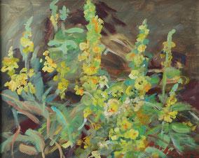 """""""Königskerzen"""", 2017, Acryl, 40 x 50 cm"""