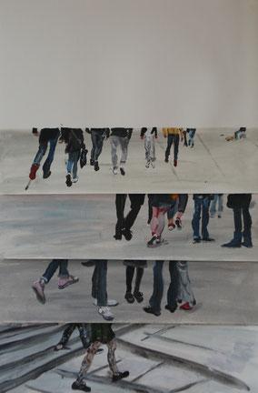 """Bewegung"", 2019, Acryl, 58 x 38 cm"