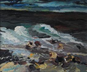 """""""Stürmische Ostsee"""", 2017, Acryl, 50 x 60 cm"""