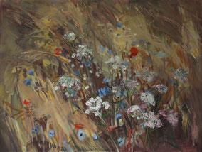 """""""Feldrand"""", 2020, Acryl, 60 x 80 cm"""