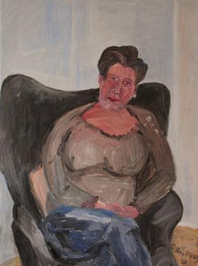 """Sitzende"", 2020, Acryl, 80 x 60 cm"