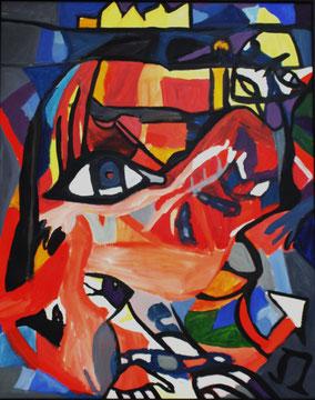 """""""o.T."""", 2008, Acryl, 100 x 80 cm"""