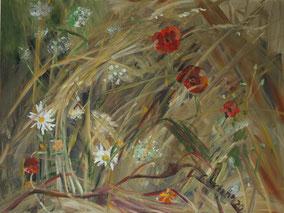"""Blühwiese"", 2020, Acryl, 60 x 80 cm"