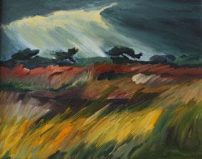 """""""Abendstimmung auf Hiddensee"""", 2010, Acryl, 40 x 50 cm"""