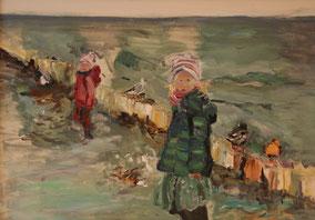 """""""Am Meer"""", 2019, Acryl, 50 x 70 cm"""