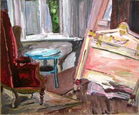 """Abgestellt"", 2005, Acryl, 50 x 60 cm"