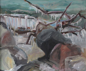 """Eis in Sassnitz"", 2017, Acryl, 50 x 60 cm"
