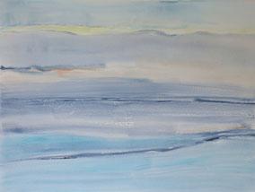 """Morgen am Meer"", 2018, Acryl, 60 x 80 cm"