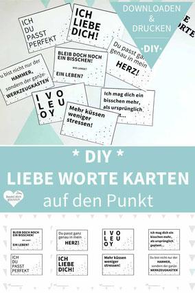Karten basteln, diy, Karten selber machen, ausdrucken, Valentinstag, Freundschaft, Liebesbotschaft, Printable