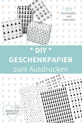 Geschenkpapier selber machen, DIY Geschenkpapier, Geschenkpapier drucken,Geschenkpapier Weihnachten selber machen