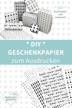 DIY Geschenkpapier, Geschnekpapier selber machen, Geschenkpapier drucken, Geschenkpapier Weihnachten