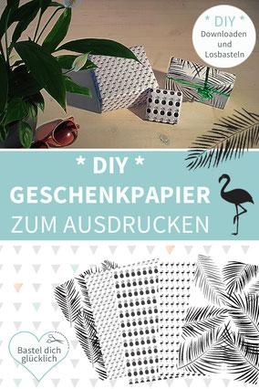 Geschenkpapier selber machen, DIY Geschenkpapier, Geschenkpapier drucken