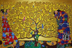 Der Lebensbaum, 90 x 60 cm, März 2011, Acryl auf Leinwand