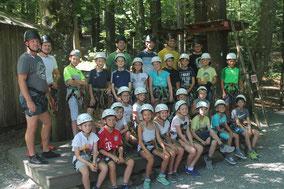 E-Jugend im Kletterpark 2019