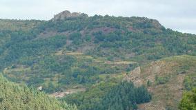 Vue de villebrion avec le rocher de Brion