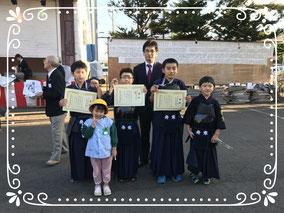 発寒神社奉納試合記念写真