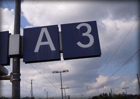 A3 am Bahnhof
